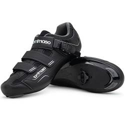 Tommaso Strada 200 Dual Cleat Compatible Indoor Cycling Class Ready Bike Shoe - SPD - 44 Black von Tommaso