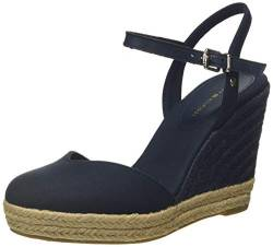 Tommy Hilfiger Damen Basic Closed Toe HIGH Wedge Peeptoe Sandalen, Blau (Desert Sky Dw5), 40 von Tommy Hilfiger