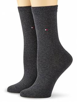 Tommy Hilfiger Damen TH Women Casual 2P Socken, Blickdicht, Grau (Anthracite Melange 030), 35-38 (per of 2 von Tommy Hilfiger