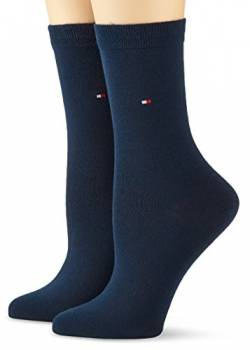 Tommy Hilfiger Damen TH Women Casual 2P Socken, Blau (Midnight Blue 563), 39-42 (per of 2 von Tommy Hilfiger