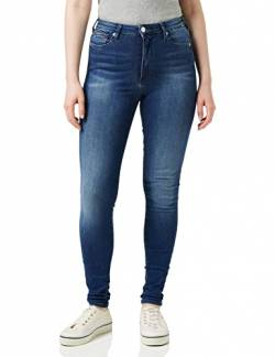 Tommy Hilfiger Damen Sylvia HR SUPER SKNY NNMBS Jeans, New Niceville Mid Blue Stretch, W33 / L28 von Tommy Hilfiger