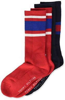Tommy Hilfiger Unisex Kinder Flag Socken (2er Pack), Midnight Blue, 27/30 von Tommy Hilfiger