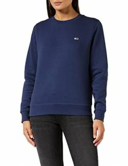 Tommy Jeans Damen TJW Regular Fleece C Neck Pullover, Marineblau (Twilight Navy), L von Tommy Jeans