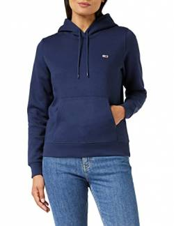 Tommy Hilfiger Damen TJW Regular Fleece Hoodie Pullover, Marineblau (Twilight Navy), S von Tommy Hilfiger