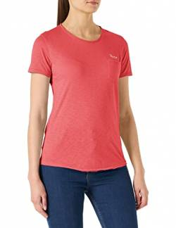 Tommy Jeans Damen Tjw Pocket Detail Tee Sport Pullover, Rot (Blush Red Xif), 34 (Herstellergröße: Small) von Tommy Jeans
