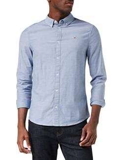 Tommy Hilfiger Herren TJM Slim Stretch Oxford T-Shirt, Marineblau (Twilight Navy), M von Tommy Hilfiger