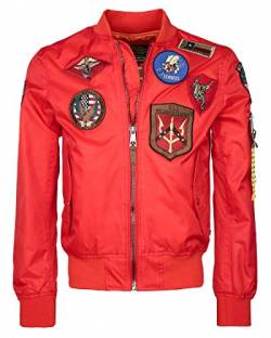 Top Gun Herren Nylonjacke Mit Flair Beast Red,XXL von Top Gun