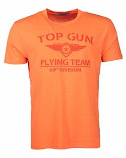Top Gun Shining T-Shirt Neon (XXL, Neon-Orange) von Top Gun
