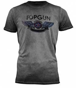 Top Gun Herren T-Shirt Logo Construction Black,XXL von Top Gun