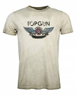 Top Gun Herren T-Shirt Logo Construction Olive,l von Top Gun