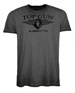 Top Gun Herren T-Shirt Logo Wing Cast Black,m von Top Gun