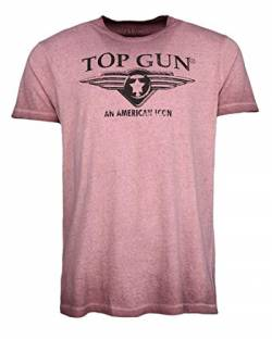 Top Gun Herren T-Shirt Logo Wing Cast Red,l von Top Gun
