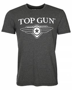 Top Gun Herren T-Shirt Print Bedruckt 6403 Cloudy anthracite-1534 4XL von Top Gun