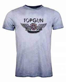 Top Gun Herren T-Shirt Logo Construction Navy,XL von Top Gun