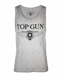 Top Gun Herren Tank Top Weit Engine Grey,l von Top Gun