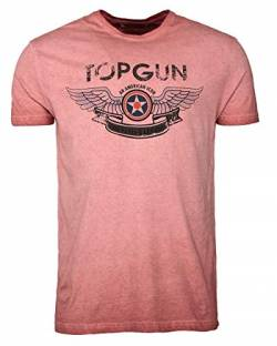 Top Gun Herren T-Shirt (S, Red) von Top Gun