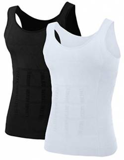 TopTie Men Slimming Body Shaper Kompressionshemd Shapewear Sculpting Vest Muscle Tank von TopTie