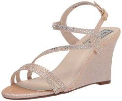 Touch Ups Women's Strappy Wedge Sandal Heeled, Champagne, 5.5 von Touch Ups
