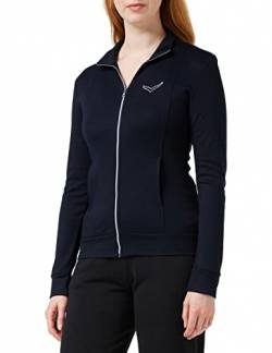 Trigema Damen 502111 Trainingsjacke, Blau (Navy 046), Medium von Trigema
