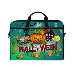 Irud Laptop-Tasche Halloween Tag Kürbis Aktentasche Schultertasche Messenger Bag Tablet Business Carrying Handtasche Laptop Sleeve für Damen und Herren (15-15,4 Zoll) von TropicalLife