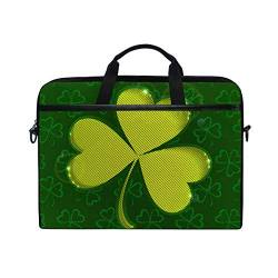 Irud Laptop-Tasche St. Patrick's Day Grün Aktentasche Schultertasche Messenger Bag Tablet Business Tragetasche Laptop Sleeve für Damen und Herren (15-15,4 Zoll) von TropicalLife