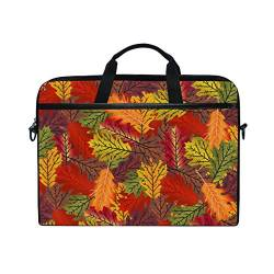 Irud Laptoptasche Fall Leaves Art Aktentasche Schultertasche Messenger Bag Tablet Business Carrying Handtasche Laptop Sleeve für Damen und Herren (15-15,4 Zoll) von TropicalLife
