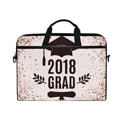 Irud Laptoptasche Graduate 2018 Klasse Bachelor Hat Aktentasche Schultertasche Messenger Bag Tablet Business Tragetasche Laptop Sleeve für Damen und Herren (15-15,4 Zoll) von TropicalLife