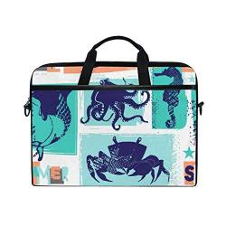 Irud Laptoptasche Marine Sea Tier Aktentasche Schultertasche Messenger Bag Tablet Business Carrying Handtasche Laptop Sleeve für Damen und Herren (15-15,4 Zoll) von TropicalLife