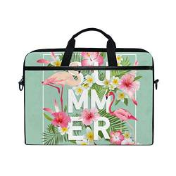 Irud Laptoptasche Summer Flower Pink Aktentasche Schultertasche Messenger Bag Tablet Business Tragetasche Laptop Sleeve für Damen und Herren (15-15,4 Zoll) von TropicalLife