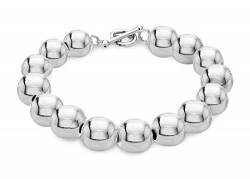 Tuscany Silver Damen Sterling Silber 12mm Ball T-Bar Armband 21cm/8zoll 8.27.1953 von Tuscany Silver