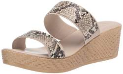 Tuscany Women's Wedge Sandal, Natural Snake, 8.5 Narrow von Tuscany
