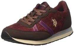 U.S.POLO ASSN. Damen Riste Velvet Low-top, Rot (Burgundy BUR), 36 EU von U.S.POLO ASSN.