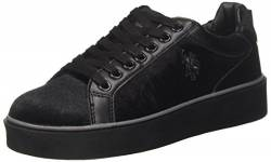 U.S.POLO ASSN. Damen Selima1 Velvet Low-top, Schwarz (Nero BLK), 41 EU von U.S.POLO ASSN.