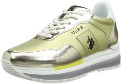 US Polo Association Damen Amy Met Gymnastikschuhe, Gold (Ligo 053), 39 EU von U.S.POLO ASSN.