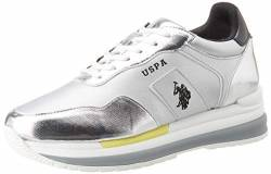 US Polo Association Damen Amy Met Gymnastikschuhe, Silber (SIL 052), 36 EU von U.S.POLO ASSN.