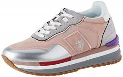 US Polo Association Damen Amy Suede Gymnastikschuhe, Mehrfarbig (Pink/SIL 051), 39 EU von U.S.POLO ASSN.