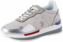 US Polo Association Damen Amy Suede Gymnastikschuhe, Mehrfarbig (WHI/SIL 049), 38 EU von U.S.POLO ASSN.
