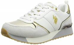 US Polo Association Damen Tabitha4 Gymnastikschuhe, Mehrfarbig (WHI/Gold 059), 38 EU von U.S.POLO ASSN.