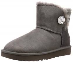 UGG Female Mini Bailey Button Bling Classic Boot, Grey, 5 (UK) von UGG