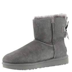 UGG Damen Mini Bailey Bow Ii Schlupfstiefel, Grau (Grey), 40 EU (7 UK) von UGG