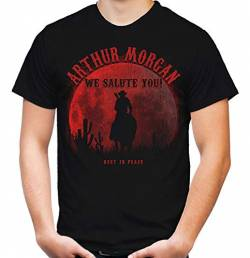 Arthur - We Salute You Männer und Herren T-Shirt | Dead Cowboy Red Outlaw Morgan von Uglyshirt87