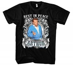 Rest in Peace Arthur Männer und Herren T-Shirt | King of Queens Spooner Jerry Stiller (XXL) von Uglyshirt87