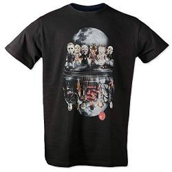 Evil Six Männer Herren T-Shirt | Horror Halloween Nightmare Freddy Michael Myers Jason Clown Friends (4XL) von Uglyshirt89