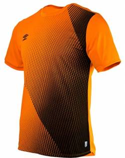 Umbro Herren 65322U Silo Training Velocita Graphic Tee Sporthemd, Orange (Turmeric/Black Grn), Small von Umbro
