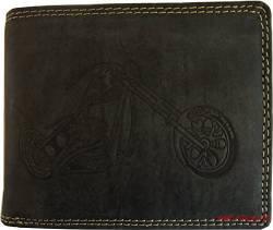 371cd16f247fe Hochwertige Geldbörse Geldbeutel Portemonnaie Büffel Leder Motorrad Chopper  Wild geprägt von Unbekannt