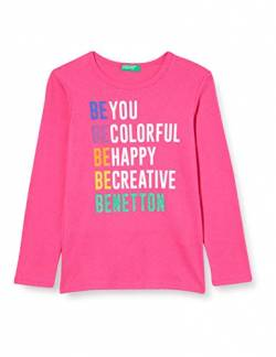 United Colors of Benetton (Z6ERJ) Mädchen M/L T-Shirt, Fuchsia Purple 02a, 104 cm von United Colors of Benetton (Z6ERJ)