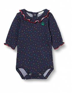 United Colors of Benetton (Z6ERJ Baby-Jungen Body Tunika zum Stillen, Blu 60d, 74 cm von United Colors of Benetton