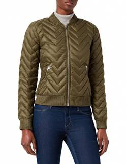 United Colors of Benetton Damen Giubbotto Bomberjacke, Grün (Olive Night 35a), 42 (Herstellergröße: 48) von United Colors of Benetton