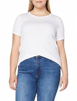 United Colors of Benetton Damen T-Shirt Pullunder, Weiß (Bianco 101), Small von United Colors of Benetton
