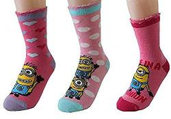 United Labels Kinder Socken Minions 3er Pack Rosatöne 27-30 von United Labels